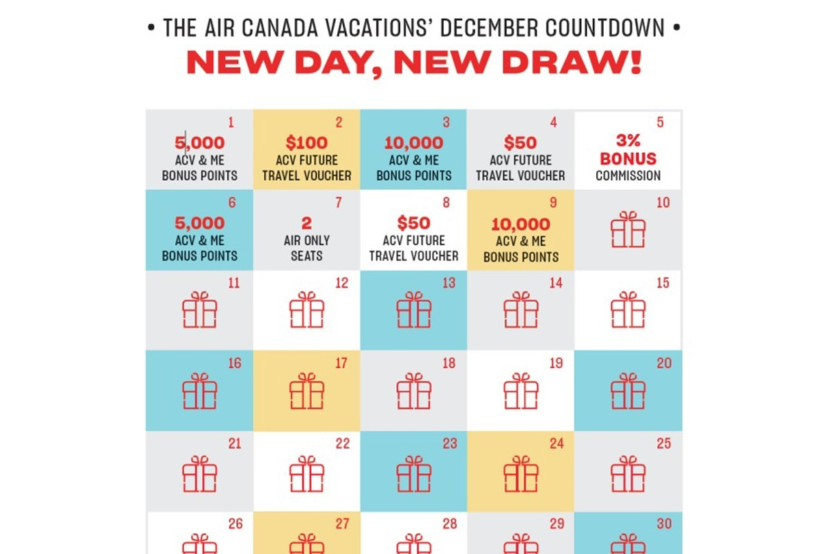 Agents can win big with ACV's New Year's Countdown Calendar