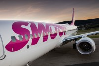 Swoop celebrates first international flight from YHM to MBJ
