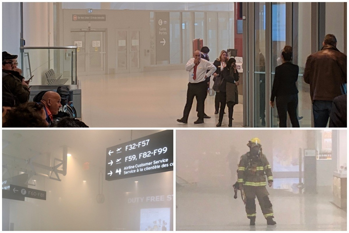 Fire at Pearson airport; passengers evacuated, flights cancelled