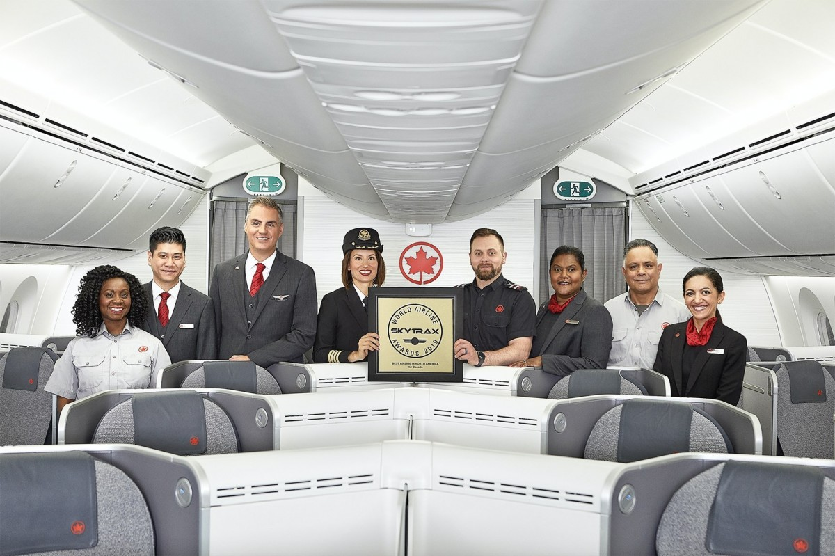 Skytrax names Air Canada as Best Airline in North America