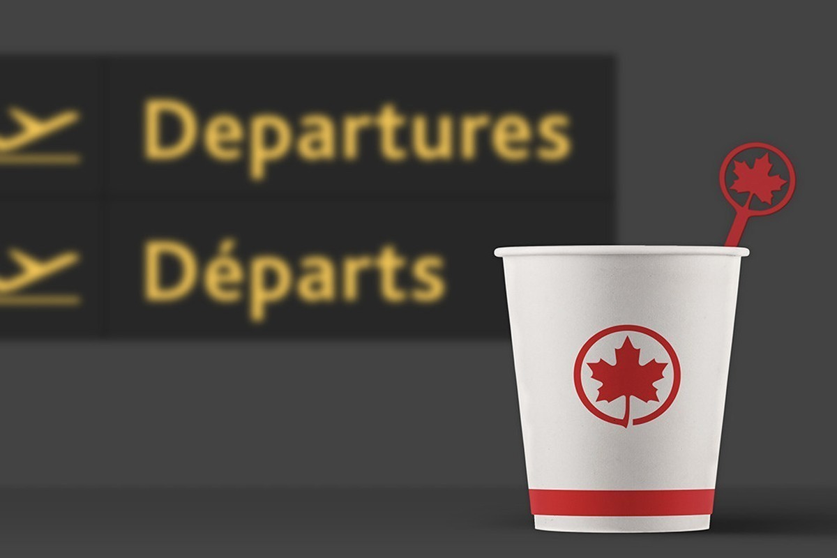 Air Canada has officially removed single-use plastic stir sticks from its fleet