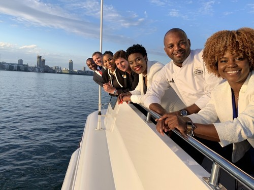 "Sandals hosts agents on Gordon ""Butch"" Stewart's yacht in Toronto"