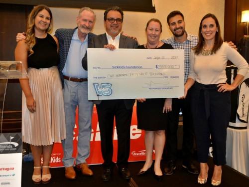TravelBrands raises a whopping $553,000 for SickKids