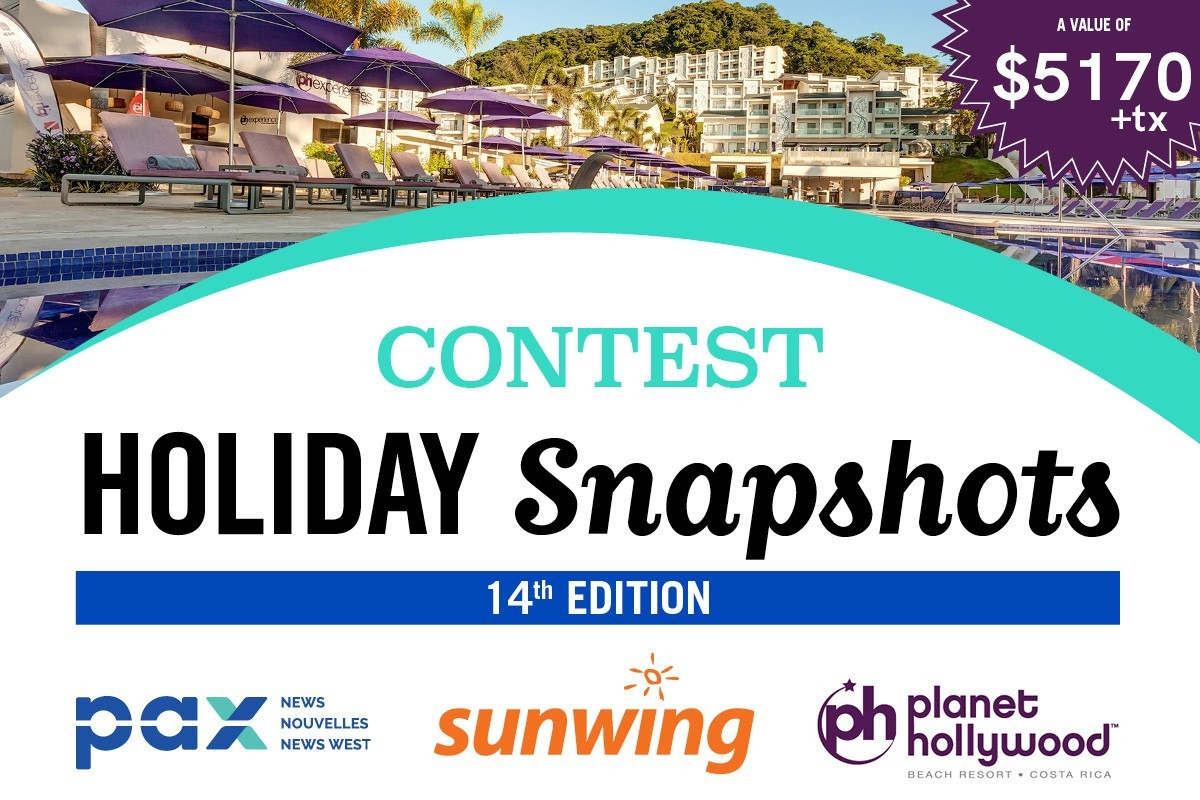The PAX-Sunwing Holiday Snapshots contest is back