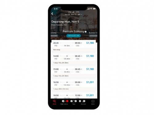 Air Canada launches brand new mobile app