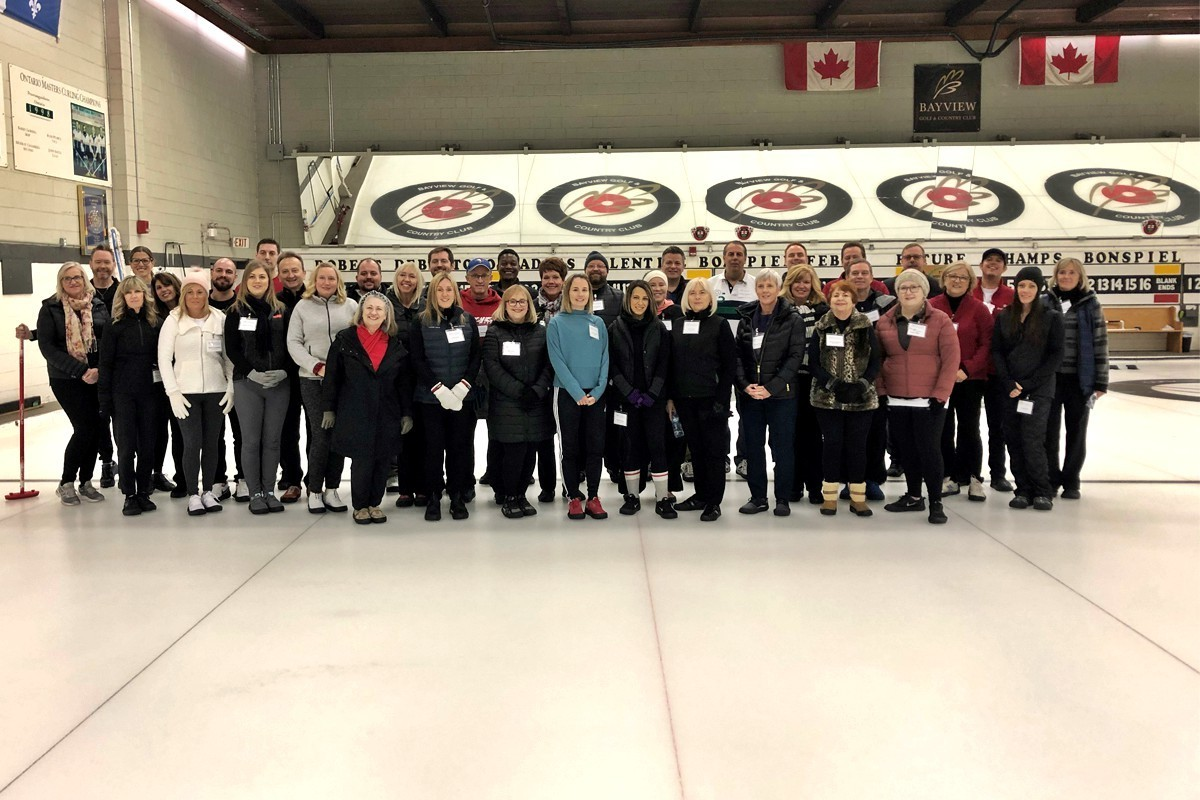 Partners take to the ice for CWT's 6th annual curling bonspiel