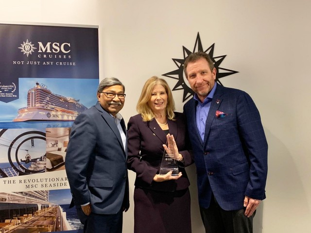 Sunwing named MSC Cruises' 2019 tour operator partner of the year