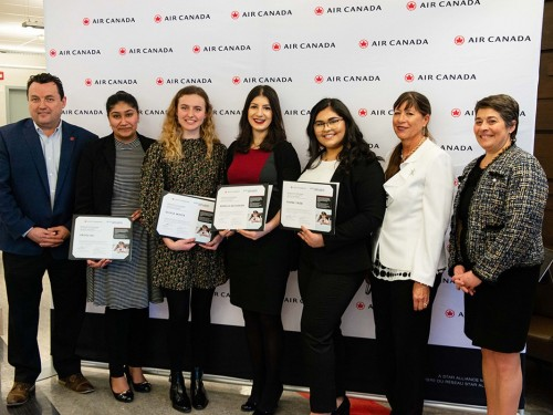 Air Canada awards 4 young women with inaugural Captain Judy Cameron Scholarship