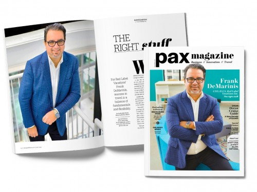 Frank DeMarinis featured in PAX magazine's April 2020 edition