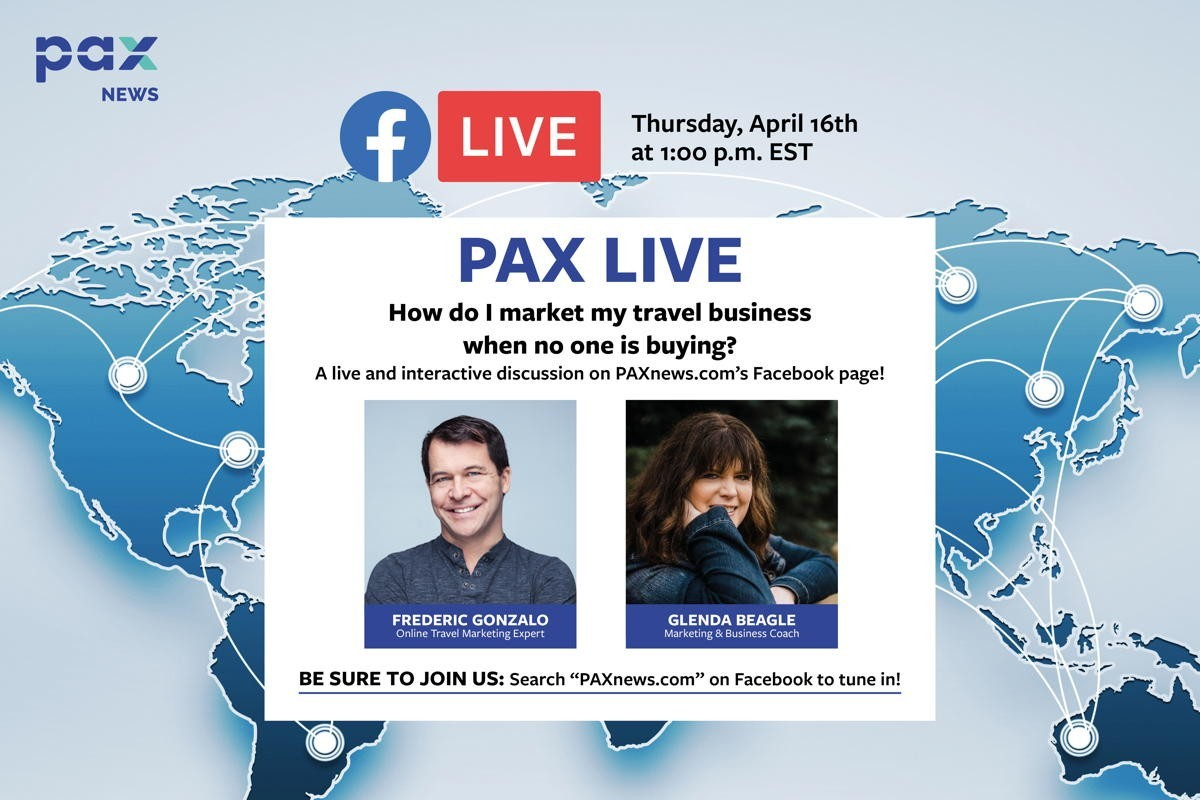 How do I market my travel business when no one is buying? FB Live chat today (April 16), 1 p.m.