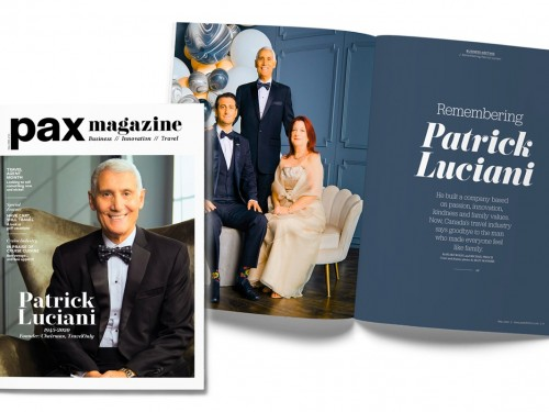 TravelOnly's Patrick Luciani memorialized on PAX magazine's May cover