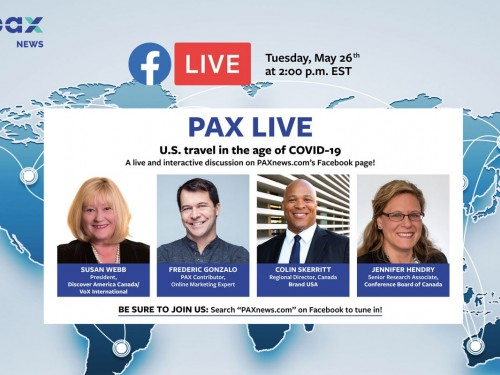 U.S. travel in the age of COVID-19. FB Live today, Tues., May 26, 2 p.m. (EST)