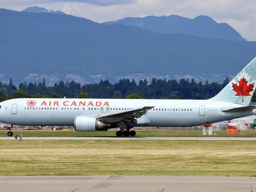 Air Canada's Boeing 767 takes its last flight