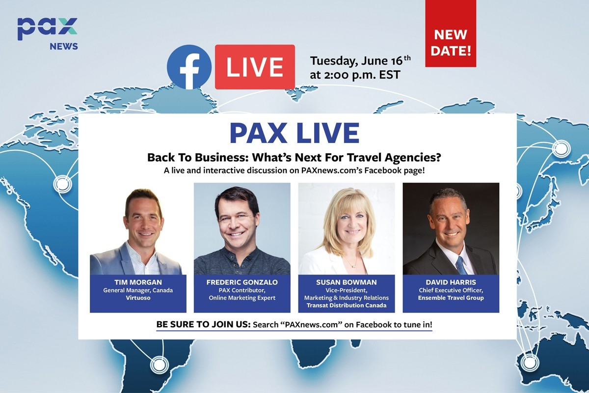 What's next for travel agencies? FB Live: today (June 16), 2 p.m. EST