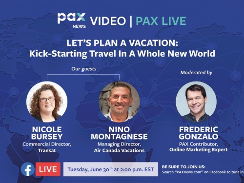 Let's plan a vacation: kick-starting travel in a whole new world. FB live today: (June 30, 2 p.m., EST)