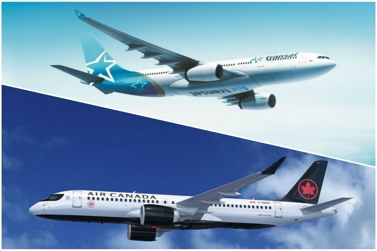 EU resumes Air Canada/Transat merger probe; Air Canada bans a specific type of mask