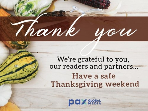 Happy Thanksgiving from Pax Global Media