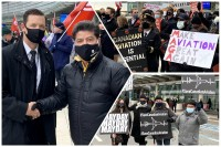 """""""We've had enough"""": aviation workers rally at YYZ, aim anger at Ottawa for stalling on recovery plan"""