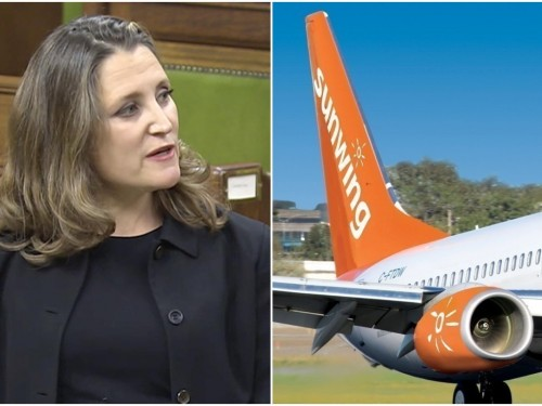 "Sunwing ""disappointed"" in Liberals' fiscal update, but remains ""open to collaborating"""
