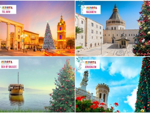 The Israel Ministry of Tourism is offering personalized Christmas postcards
