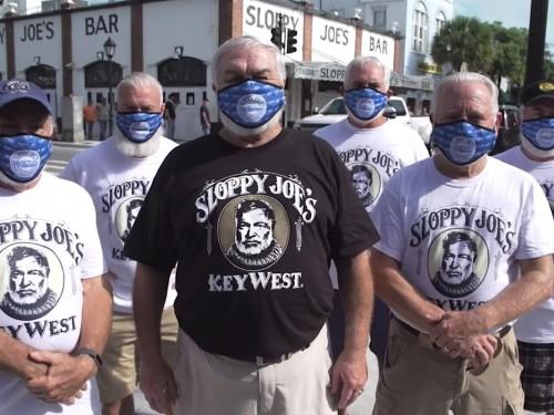 VIDEO: Florida Keys uses Ernest Hemingway look-alikes to encourage mask wearing