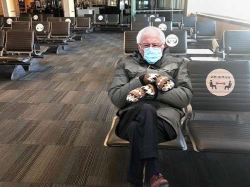 People are photoshopping Bernie Sanders into airports and it's hilarious
