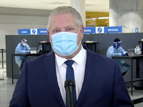 Premier Ford calls on Ottawa to ban flights from countries with COVID-19 variants