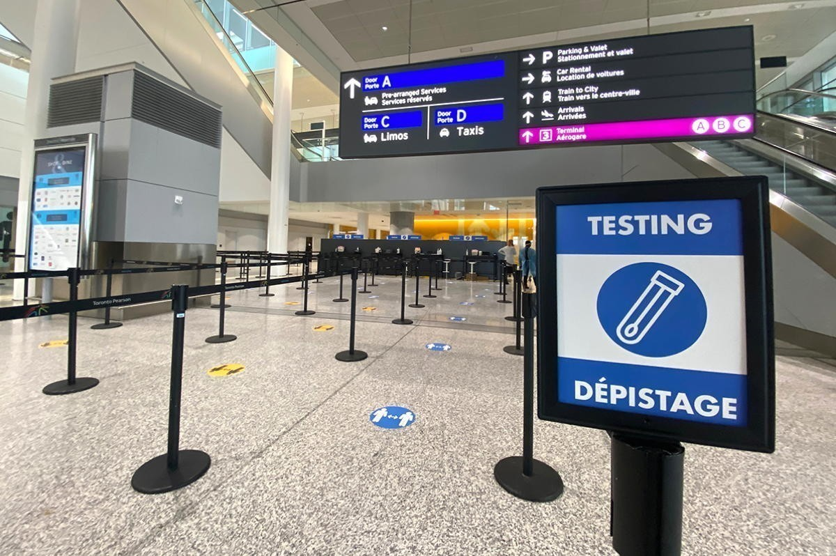 Ontario starts mandatory COVID-19 testing at Pearson; $750 fine for refusing test