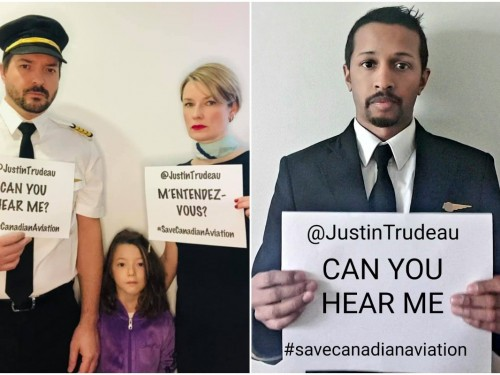 "Trudeau, ""Can you hear me?"" Airline workers turn to social media to #SaveCanadianAviation"