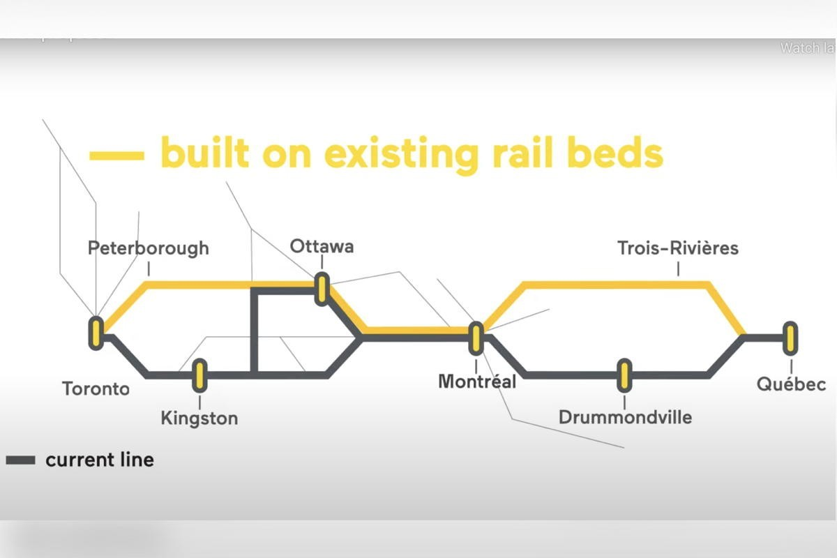 """Liberals announce plans for """"high frequency"""" rail lines between Toronto & Quebec City"""