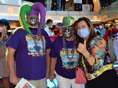 Mardi Gras, Carnival's newest ship, departs on maiden voyage from Port Canaveral