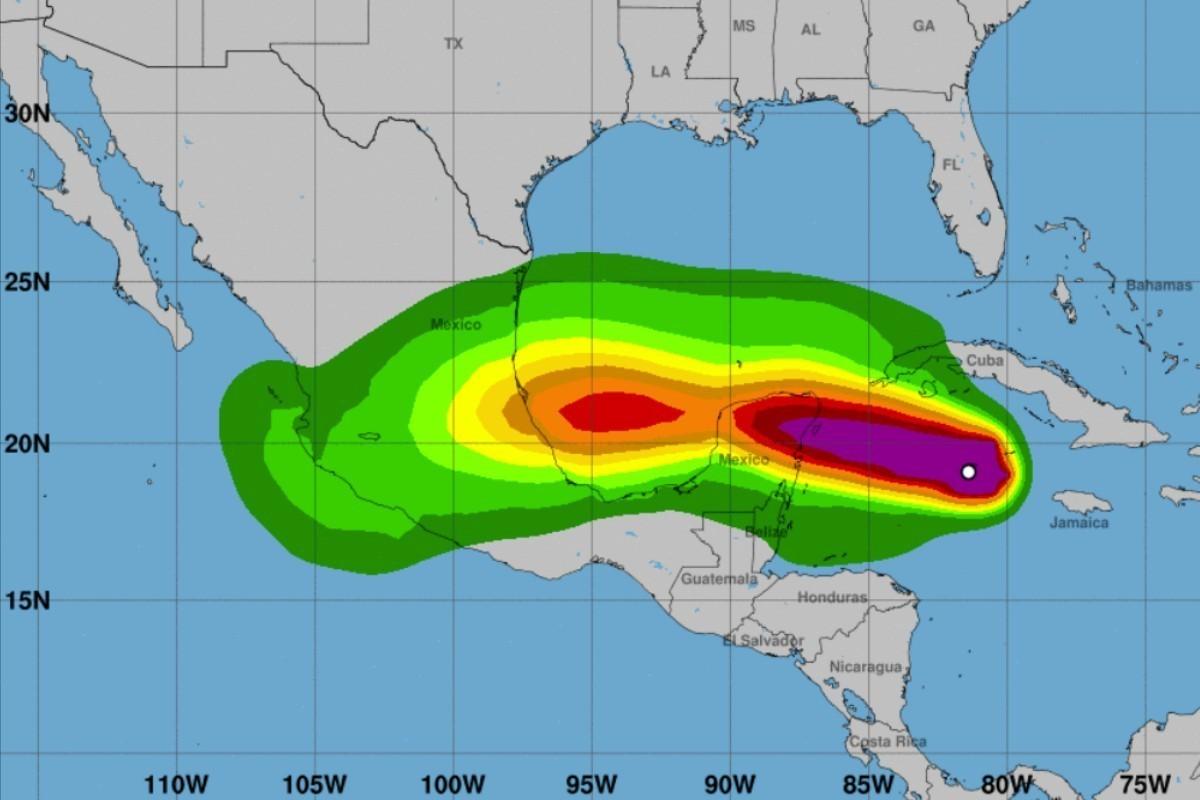Hurricane Grace heads toward Mexico's Yucatan Peninsula