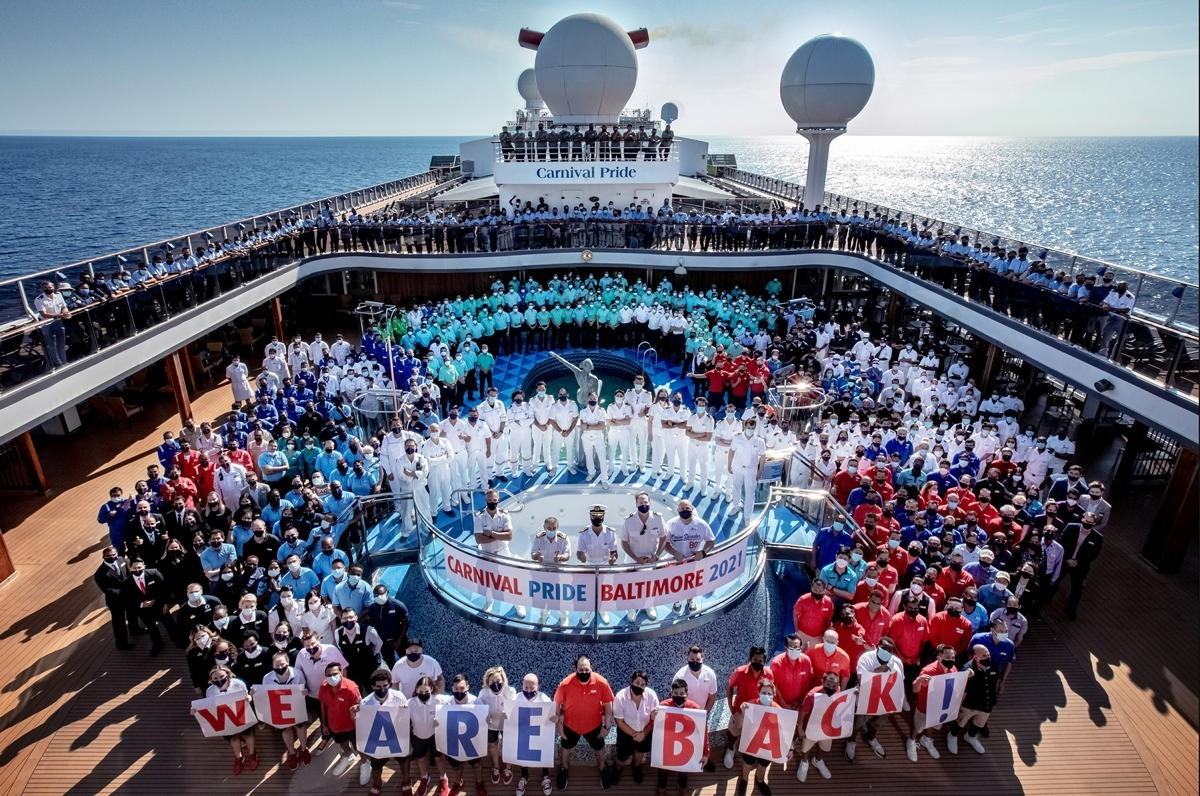 Carnival Pride sets sail on first cruise from Port of Baltimore