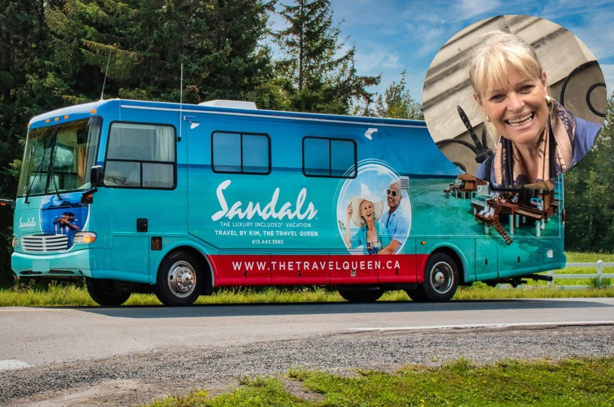 """""""Their business values align with mine"""": Meet the """"Travel Queen"""" who owns Canada's first Sandals-wrapped RV"""