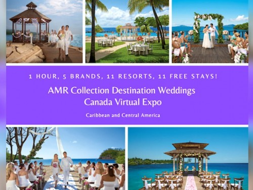 Register for AMR Collection's virtual wedding expo for Canadian agents on Oct. 14